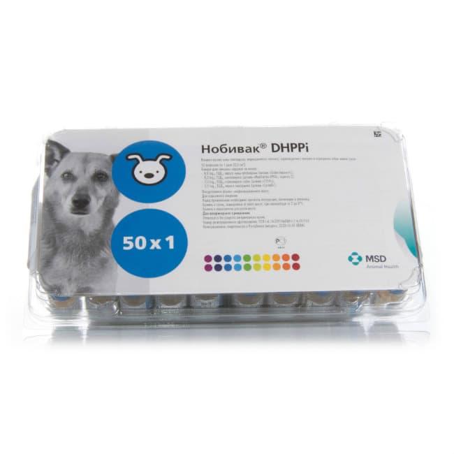 Intervet Нобивак DHPPi (Nobivac DHPPi), 1 мл. флакон (1 доза) купить в дискаунтере товаров для животных Крокодильчик