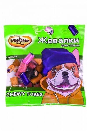 Мнямс жевалки CHEWY TUBES для собак с курицей купить в дискаунтере товаров для животных Крокодильчик
