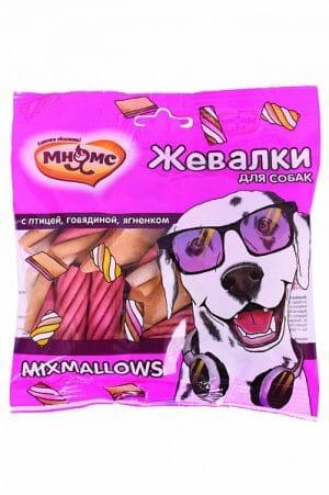 Мнямс жевалки MIXMALLOWS для собак с птицей, говядиной и ягненком купить в дискаунтере товаров для животных Крокодильчик