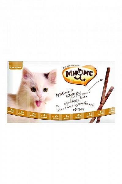 Мнямс лакомые палочки для кошек с цыпленком, 10 шт. купить в дискаунтере товаров для животных Крокодильчик