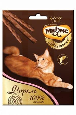 Мнямс Деликатес лакомые палочки для кошек с форелью, 3 шт купить в дискаунтере товаров для животных Крокодильчик