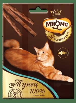 Мнямс Деликатес лакомые палочки для кошек с тунцом, 3 шт купить в дискаунтере товаров для животных Крокодильчик
