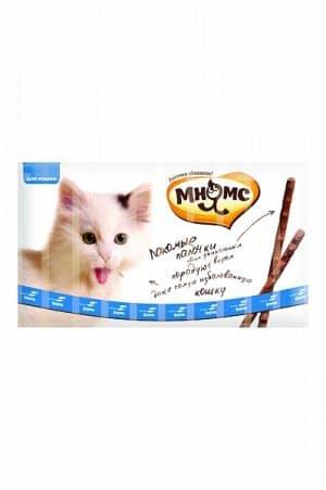 Мнямс лакомые палочки для кошек с форелью и лососем, 10 шт. купить в дискаунтере товаров для животных Крокодильчик