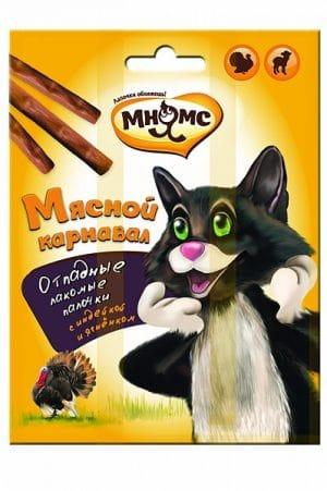 Мнямс лакомые палочки для кошек «Мясной карнавал», 3 шт. купить в дискаунтере товаров для животных Крокодильчик