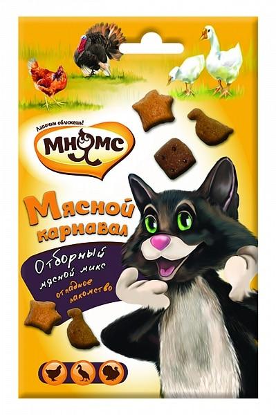 Мнямс микс для кошек «Мясной карнавал», 50 г купить в дискаунтере товаров для животных Крокодильчик