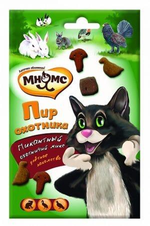Мнямс микс для кошек «Пир охотника», 50 г купить в дискаунтере товаров для животных Крокодильчик