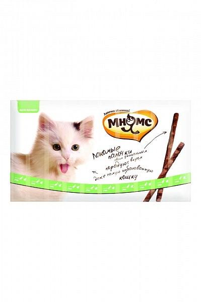 Мнямс лакомые палочки для кошек с уткой и кроликом, 10 шт. купить в дискаунтере товаров для животных Крокодильчик