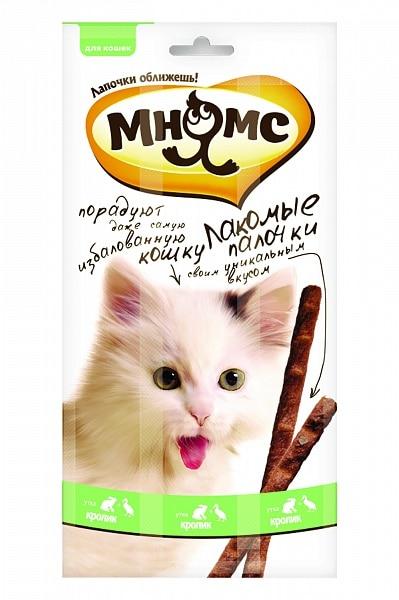 Мнямс лакомые палочки для кошек с уткой и кроликом, 3 шт. купить в дискаунтере товаров для животных Крокодильчик