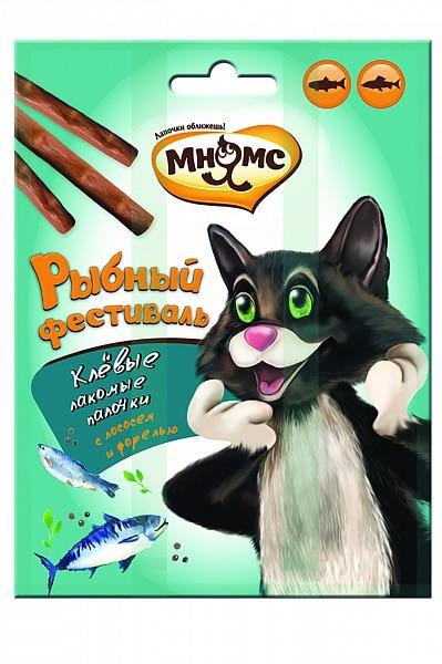 Мнямс лакомые палочки для кошек «Рыбный фестиваль», 3 шт. купить в дискаунтере товаров для животных Крокодильчик