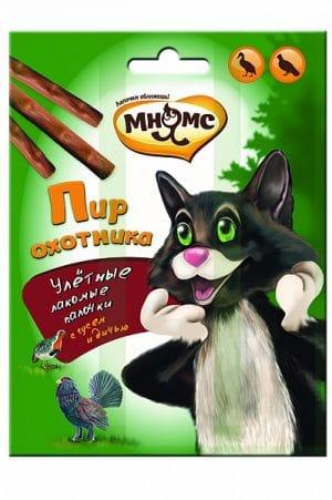 Мнямс лакомые палочки для кошек «Пир охотника», 3 шт. купить в дискаунтере товаров для животных Крокодильчик
