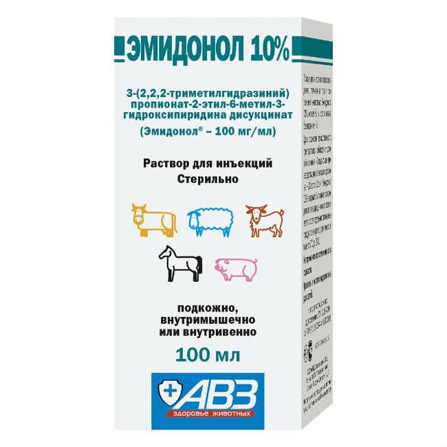 Эмидонол раствор 10%, 100 мл купить в дискаунтере товаров для животных Крокодильчик в Москве