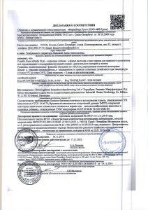 Сертификат качества продукции Страйд (Stride) с дискаунтере товаров для животных Крокодильчик